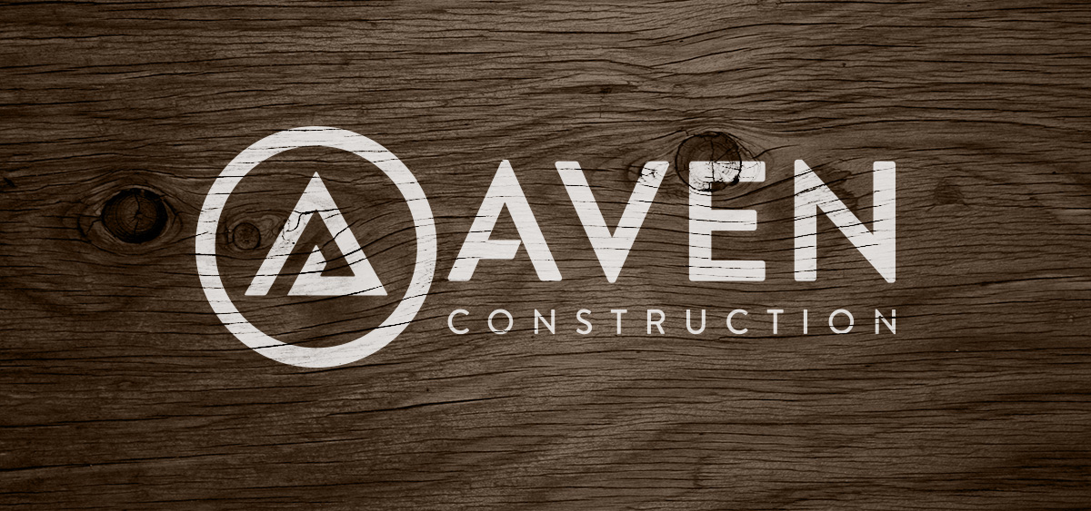 Aven Construction Logo - Wood Texture