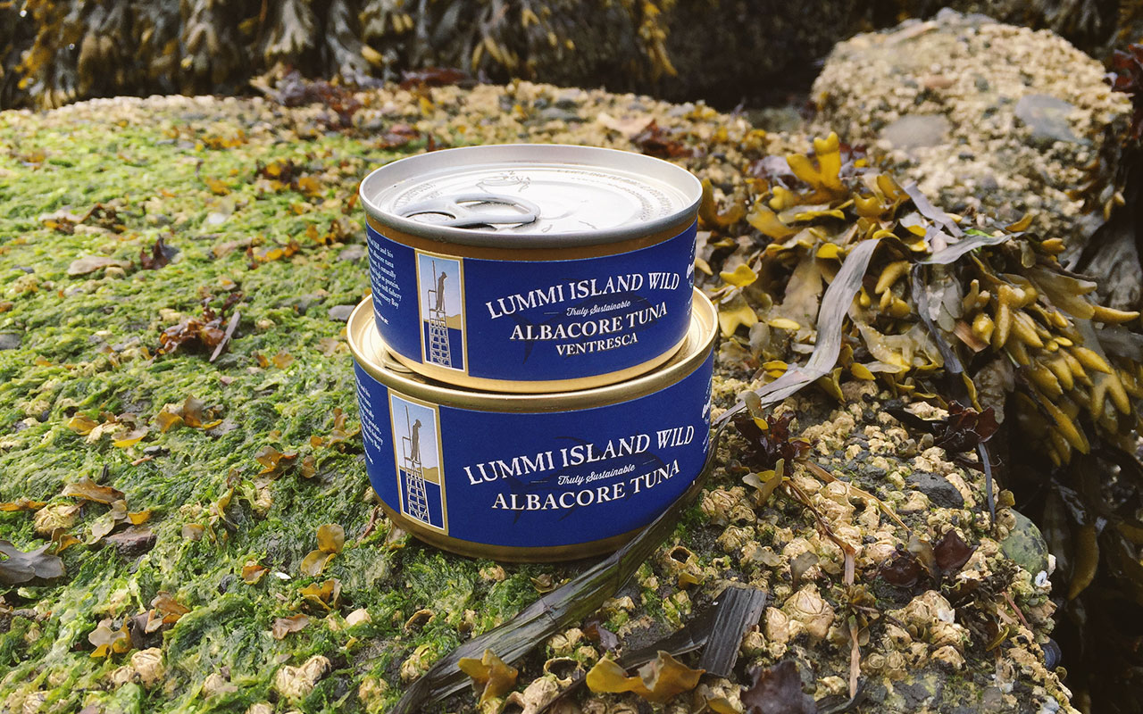 Lummi Island Wild - Tuna Can Packaging Design
